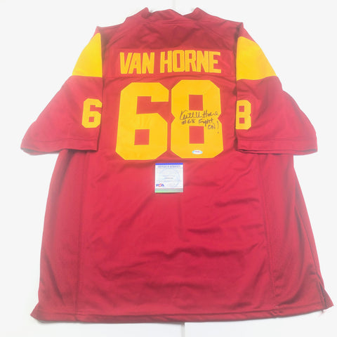 Keith Van Horne Signed Jersey PSA/DNA USC Trojans Autographed