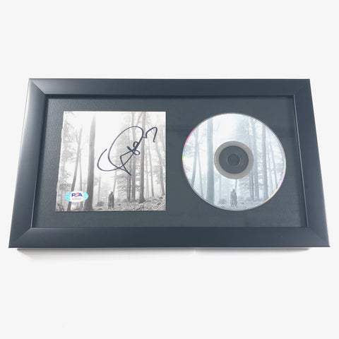 Taylor Swift Signed CD Cover Framed PSA/DNA Folklore