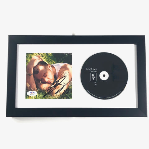 Sam Smith Signed Album CD Cover Framed PSA/DNA Love Goes Autographed