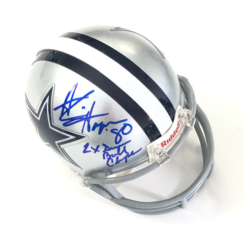 Alvin Harper signed mini helmet PSA/DNA Dallas Cowboys autographed