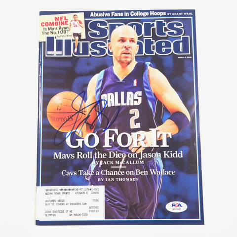 Jason Kidd signed SI Magazine PSA/DNA Autographed Sports Illustrated