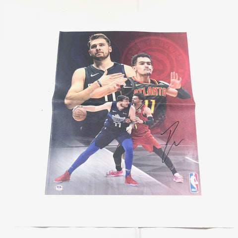 Trae Young signed 16x20 canvas PSA/DNA Atlanta Hawks Autographed