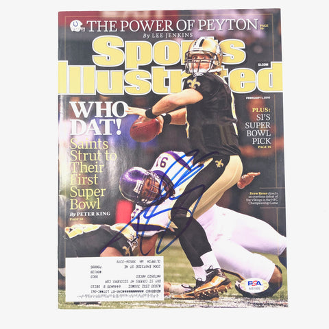 Drew Brees Signed SI Magazine PSA/DNA Sports Illustrated Saints