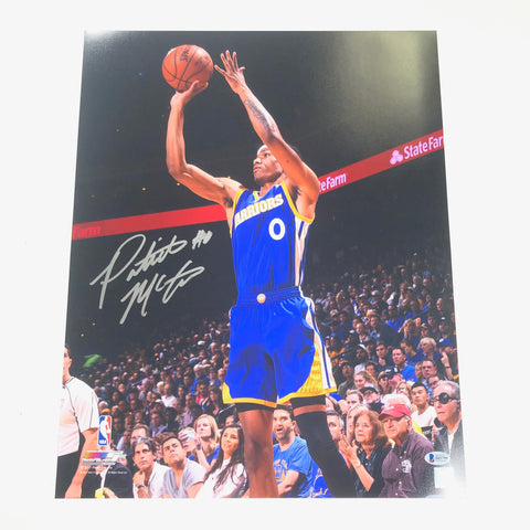 Patrick McCaw signed 16x20 photo BAS Beckett Golden State Warriors Autographed