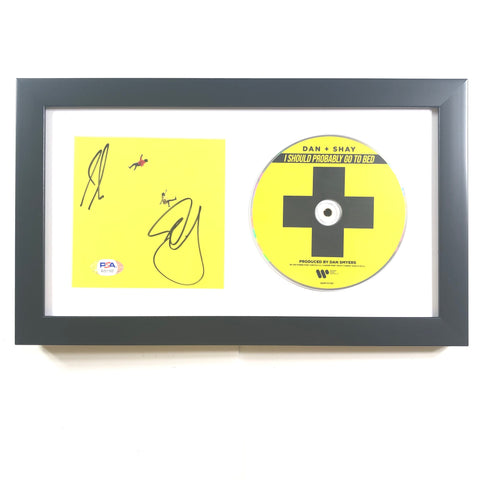 Dan + Shay Signed CD Cover PSA/DNA Framed Autographed and & Smyers Mooney