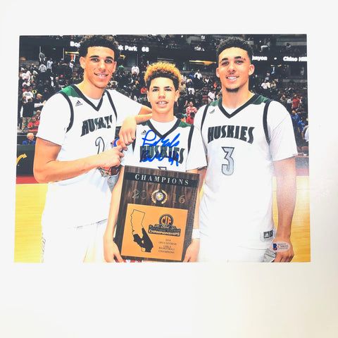 LaMelo Ball signed 11x14 photo BAS Beckett NBA Draft Autographed