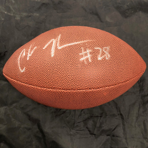 Chris Johnson Signed Football PSA/DNA Tennessee Titans Autographed