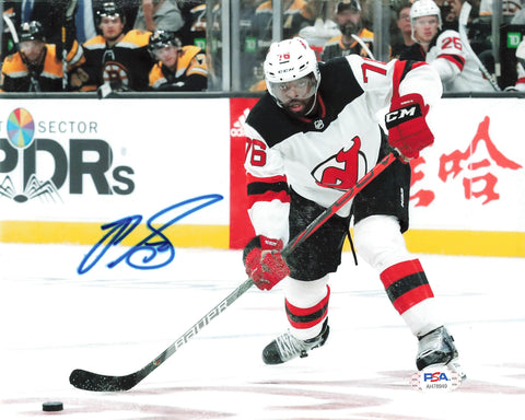 PK Subban signed 8x10 photo PSA/DNA New Jersey Devils Autographed