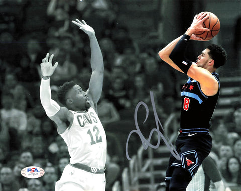 Zach Lavine signed 8x10 photo PSA/DNA Chicago Bulls Autographed