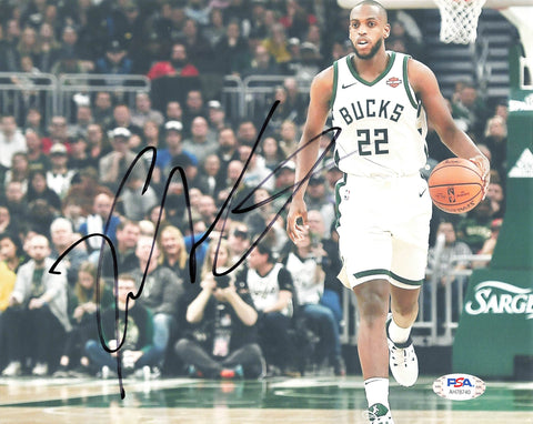 Khris Middleton signed 8x10 photo PSA/DNA Milwaukee Bucks Autographed