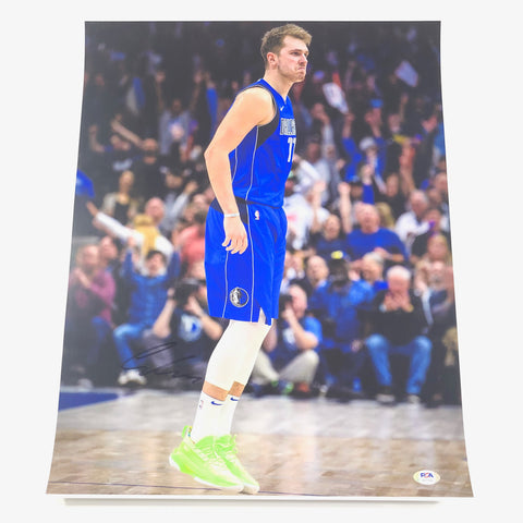 Luka Doncic signed 16x20 photo PSA/DNA Dallas Mavericks Autographed