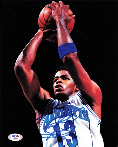 Kendall Gill signed 8x10 photo PSA/DNA Charlotte Hornets Autographed