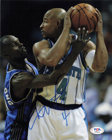 David Wesley signed 8x10 photo PSA/DNA Charlotte Hornets Autographed