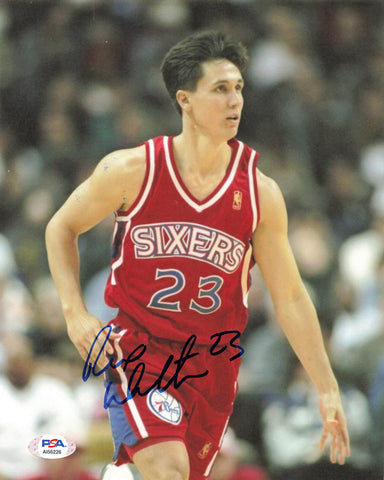 Rex Walters signed 8x10 photo PSA/DNA Philadelphia 76ers Autographed