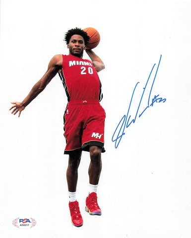 Justice Winslow signed 8x10 photo PSA/DNA Miami Heat Autographed