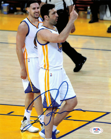 Zaza Pachulia signed 8x10 photo PSA/DNA Golden State Warriors Autographed
