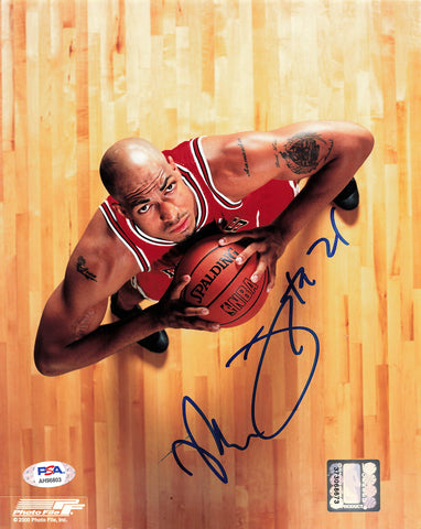 Marcus Fizer signed 8x10 photo PSA/DNA Chicago Bulls Autographed