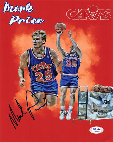 Mark Price Signed 8x10 photo PSA/DNA Cleveland Cavaliers Autographed