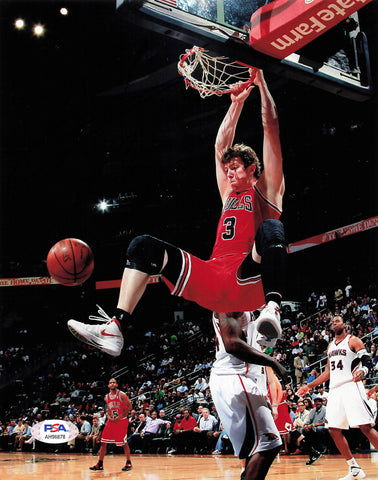 Omer Asik signed 8x10 photo PSA/DNA Chicago Bulls Autographed