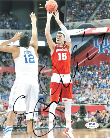 Sam Dekker signed 8x10 photo PSA/DNA Wisconsin Badgers Autographed