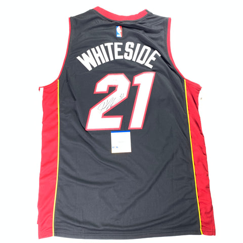 Hassan Whiteside signed jersey PSA/DNA Miami Heat Autographed