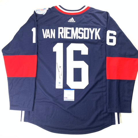 James van Riemsdyk Signed Jersey PSA/DNA COA Team USA Autographed Flyers