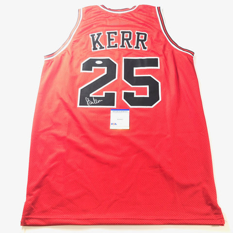Steve Kerr Signed Jersey PSA/DNA Chicago Bulls Michael Jordan