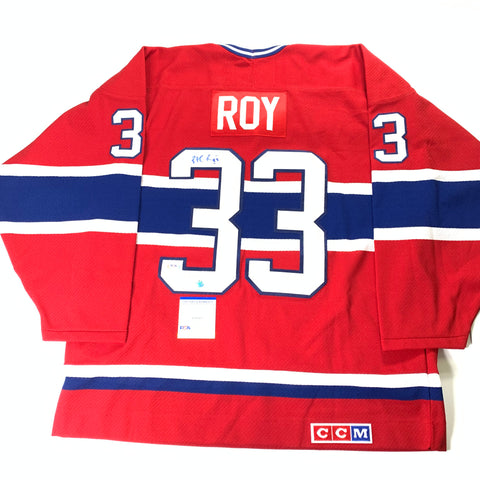Patrick Roy Signed Jersey PSA/DNA COA Montreal Canadiens Autographed