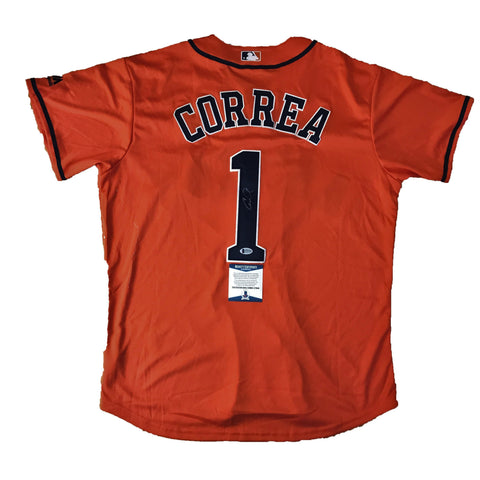 Carlos Correa signed jersey BAS Beckett Houston Astros Autographed