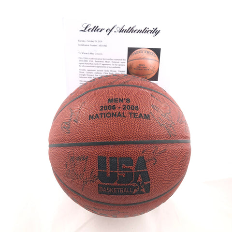 2006-2008 Team USA Signed Basketball PSA/DNA Autographed Kobe Bryant