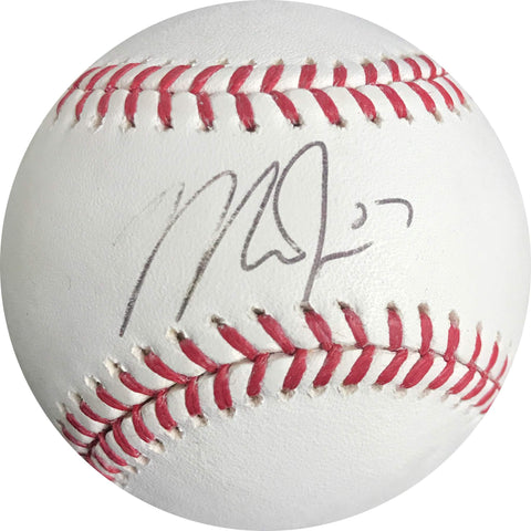 Mike Trout signed Baseball BAS Beckett Angels autographed