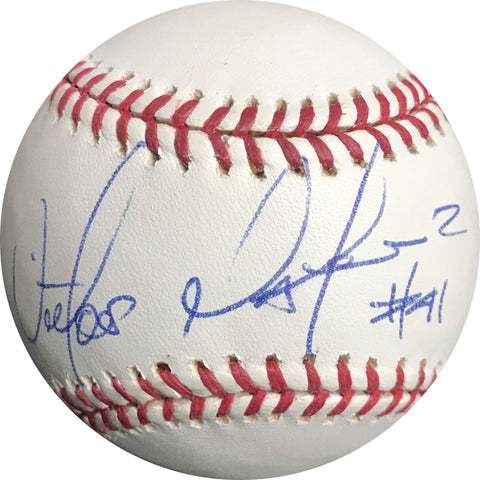 Victor Martinez signed baseball BAS Detroit Tigers autographed