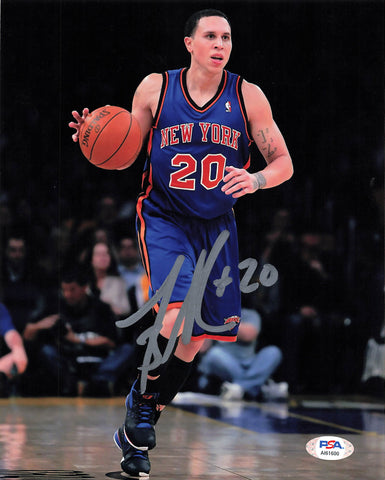 Mike Bibby signed 8x10 photo PSA/DNA New York Knicks Autographed