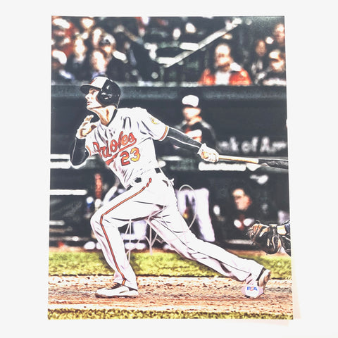 Joey Rickard signed 11x14 photo PSA/DNA Baltimore Orioles Autographed