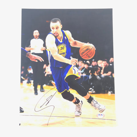 Stephen Curry signed 11x14 photo PSA/DNA Golden State Warriors Autographed