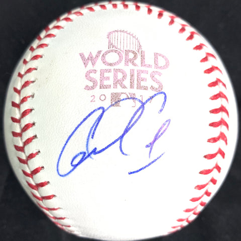Carlos Correa signed 2017 WS Baseball PSA/DNA Houston Astros autographed