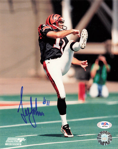 LEE JOHNSON signed 8x10 photo PSA/DNA Autographed