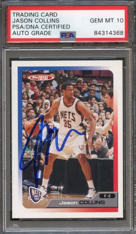 2006 Topps Total #21 Jason Collins Signed Card AUTO Grade 10 PSA Slabbed