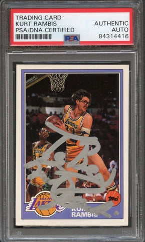 1992-93 Topps Archives #19 Kurt Rambis Signed Card Auto Grade 10 PSA Slabbed