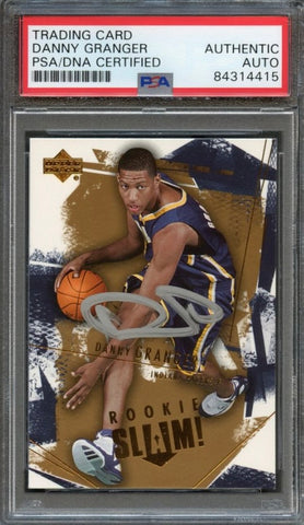 2005-06 Upper Deck Slam Basketball #102 Danny Granger Signed Card AUTO PSA Slabbed