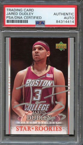 2007-08 Upper Deck First Edition #222 Jared Dudley Signed Card AUTO PSA Slabbed