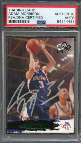 2006 Press Pass #SB20 Adam Morrison Signed Card AUTO PSA Slabbed