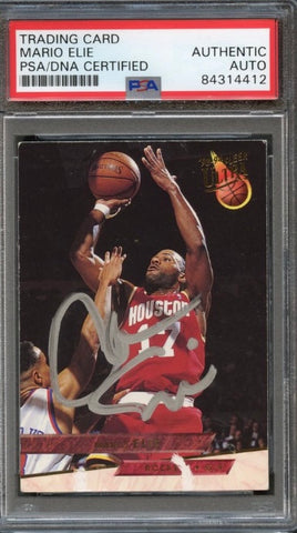 1994 Fleer #255 Mario Elie Signed Card AUTO PSA Slabbed Rockets