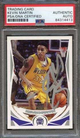 2004 Topps #246 Kevin Martin Signed Card AUTO PSA Slabbed Kings