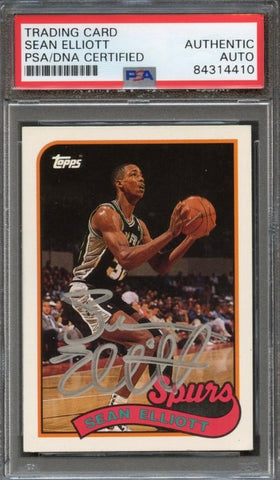 1993 Topps Archives #121 Sean Elliott Signed Card Auto Grade 10 PSA Slabbed