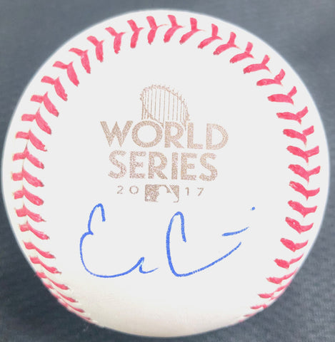 Evan Gattis signed 2017 WS Baseball PSA/DNA World Series autographed