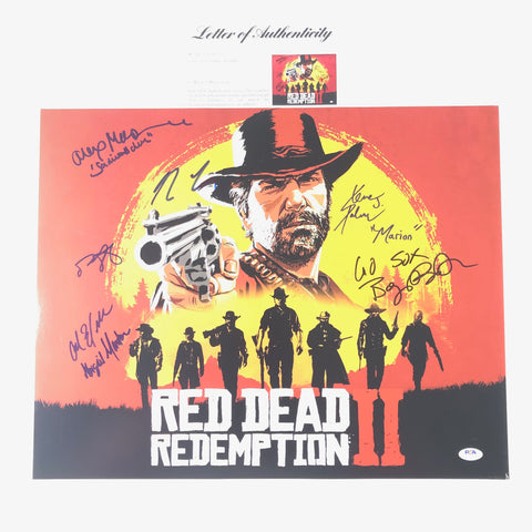 Red Dead Redemption II Signed 16x20 Photo PSA/DNA LOA RDR2