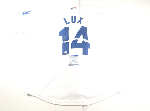 Gavin Lux Signed Jersey PSA/DNA Los Angeles Dodgers Autographed