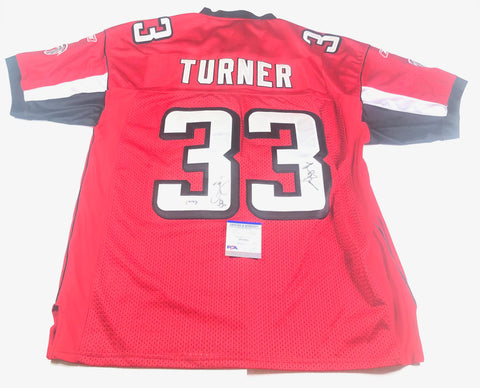 Michael Turner signed jersey PSA/DNA Atlanta Falcons Autographed