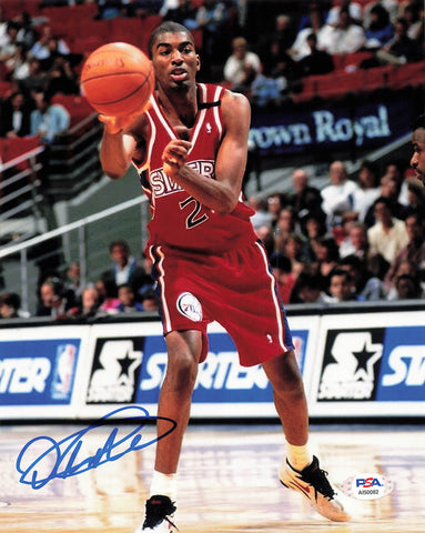 Derrick Alston signed 8x10 photo PSA/DNA Philadelphia 76ers Autographed